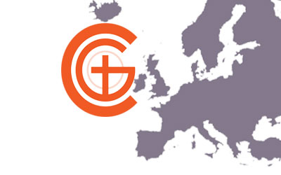 Churches of God Logo with Europe map