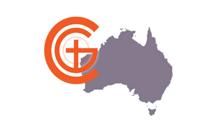 Churches of God Logo with Australia map