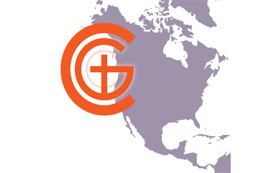 Churches of God Logo with North America map